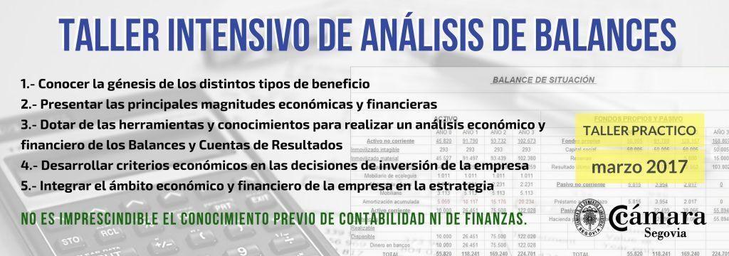 taller analisis de balances