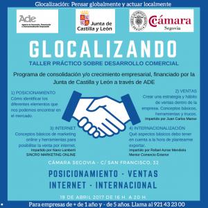 "Taller Práctico sobre desarrollo comercial ""Glocalizando"" @ Cámara de Segovia | Segovia | Castilla y León | España"