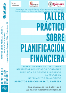 Taller práctico sobre planificación financiera @ Camara de Segovia | Segovia | Castilla y León | España