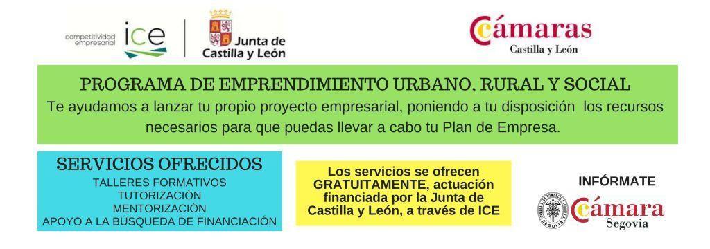 Programa emprendimiento urbano, rural y social provincia de Segovia