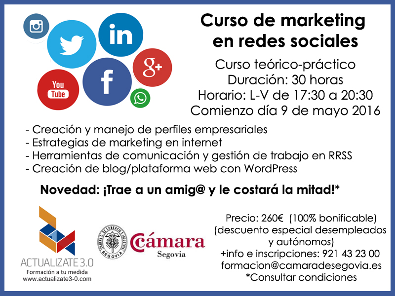 curso marketing en redes sociales