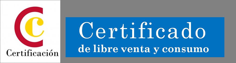 Logo certificado de libre venta y consumo