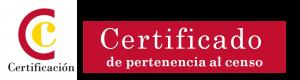 Logo Certificado de pertenencia al censo
