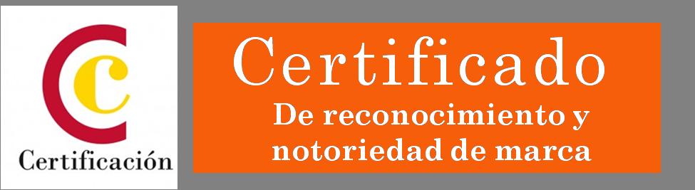 Logo certificado de reconocimiento y notoriedad de marca