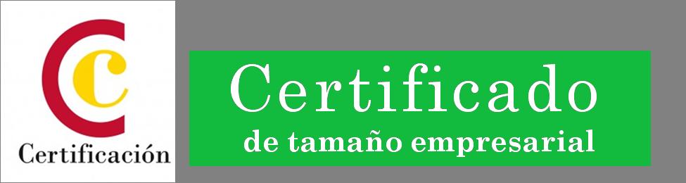 Logo certificado de tamaño empresarial