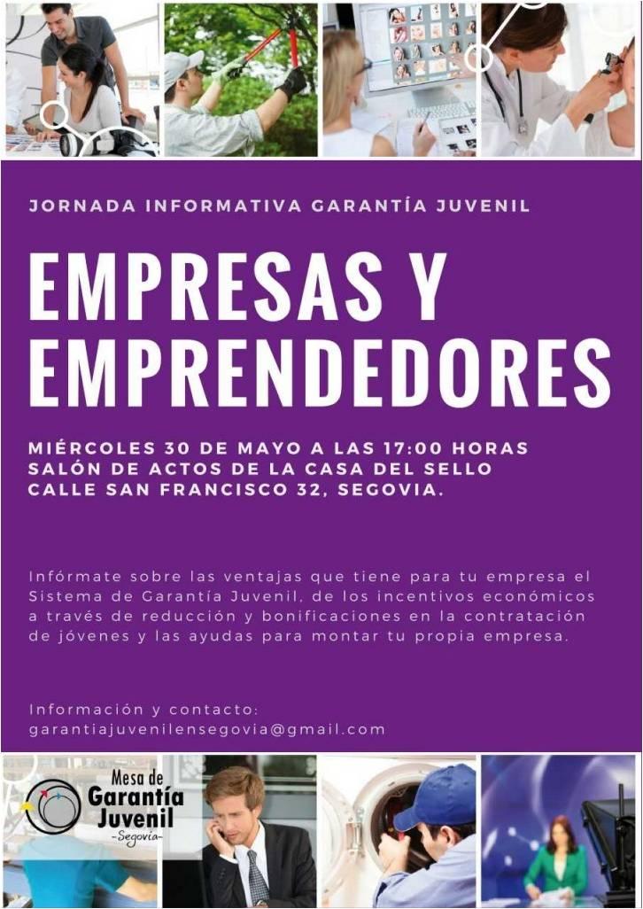 Jornada Informativa sobre Garantía Juvenil dirigida a Empresas y Emprendedores