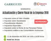 actualización y cierre fiscal de la empresa 2018
