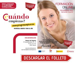 FORMACION GRATUITA PARA JOVENES DESCARGAR EL FOLLETO