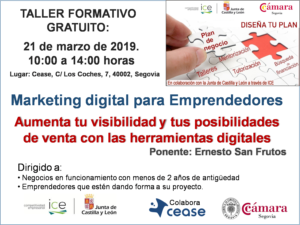 TALLER EMPRENDEDORES MARKETING DIGITAL