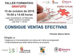 Taller de Emprendimiento en Palazuelos: Consigue ventas eficaces @ Ayuntamiento de Palazuelos