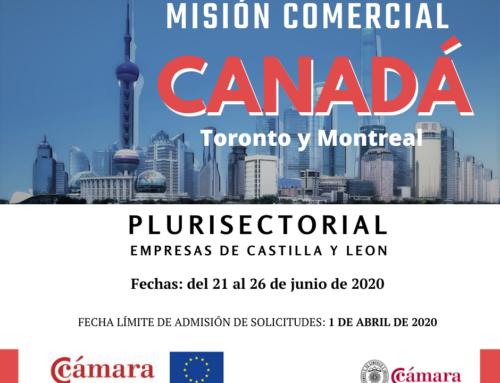 MISIÓN COMERCIAL A CANADÁ (PLURISECTORIAL)