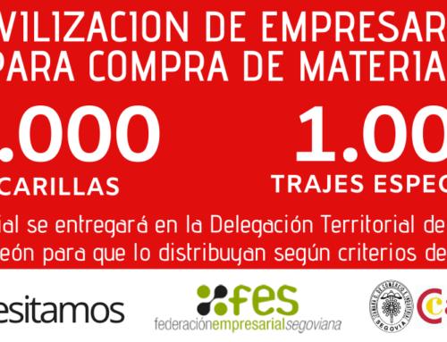 FES Y CAMARA movilizan a empresarios para entregar 50.000 mascarillas al sistema sociosanitario