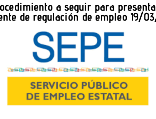 PROCEDIMIENTO A SEGUIR PARA SOLICITAR EXPEDIENTES DE REGULACION DE EMPLEO