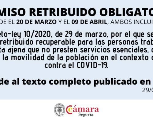 Real Decreto-ley 10/2020, de 29 de marzo, por el que se regula un permiso retribuido recuperable