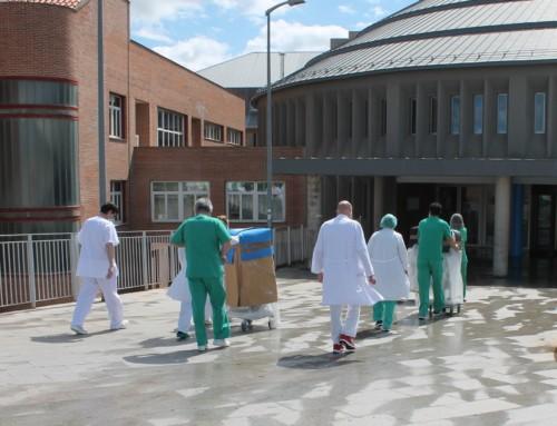 FES y Cámara entregan en el Hospital de Segovia los tres primeros respiradores para UCI