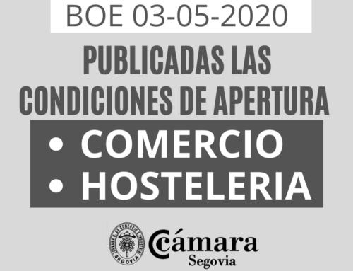 2020-05-03 Publicadas las condiciones para la apertura al público de comercios y servicios