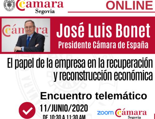 Inauguración Canal #ZoomCámaraSegovia con José Luis Bonet