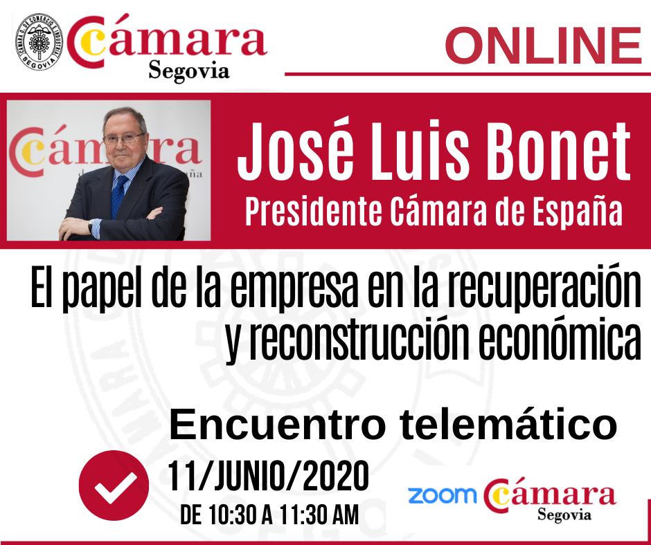 José Luis Bonet en Cámara Segovia