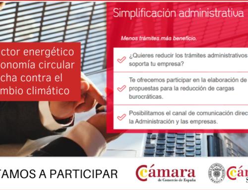 Plantea propuestas para la simplificación administrativa en el sector de la energía, la economía circular y la lucha contra el cámbio climático
