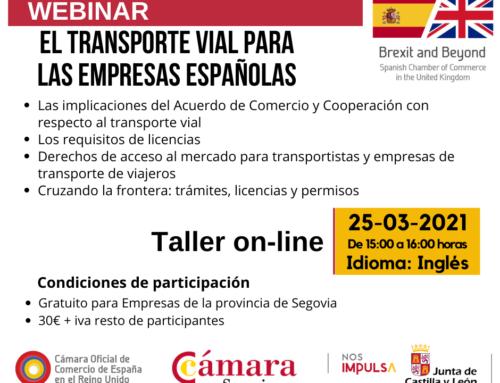 Webinar Brexit & Beyond: Transporte vial para las empresas españolas, todo lo que deberías saber