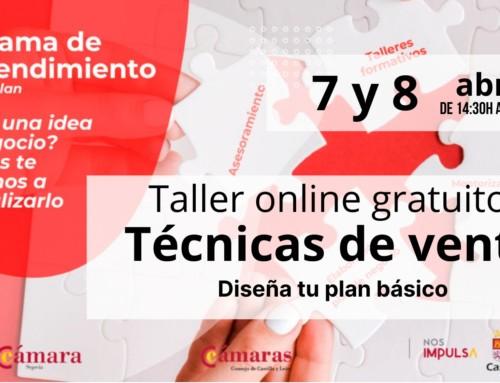 APLAZADO. Emprendimiento: Taller online gratuito. Técnicas de venta.