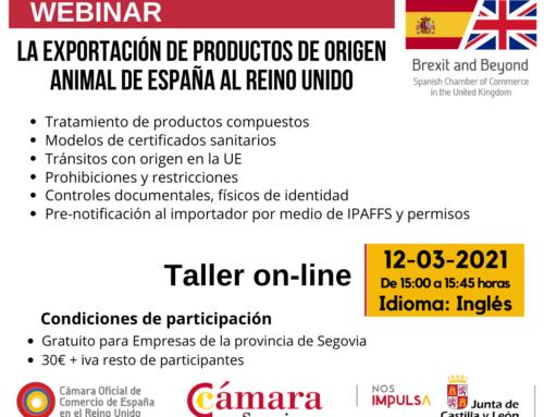 Webinar Brexit & Beyond: La exportación de productos de origen animal de España al Reino Unido