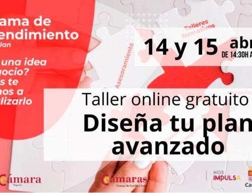 Emprendimiento: Taller online gratuito. Diseña tu plan avanzado.