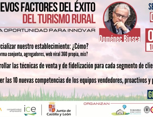 """Seminario online. """"Los nuevos factores del éxito del turismo rural. La oportunidad para innovar"""""""