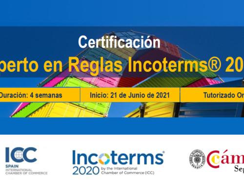 Certificación: Experto en Reglas Incoterms® 2020